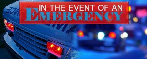 Planning ahead for emergencies