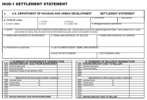 What Details Are Included In A HUD-1 Settlement Statement?