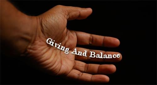 Giving and balance