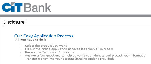 CIT Bank Savings Application