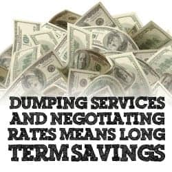 Dumping Services and Negotating Rates