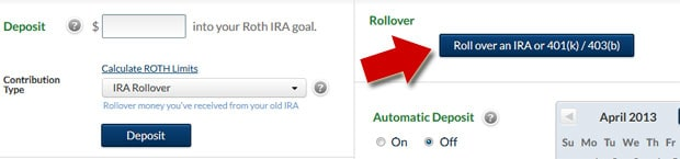 401k to IRA rollover at Betterment