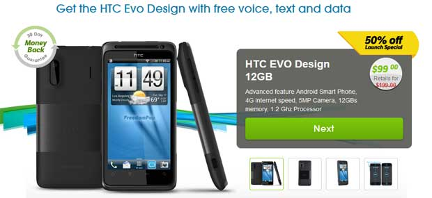 htc evo freedompop