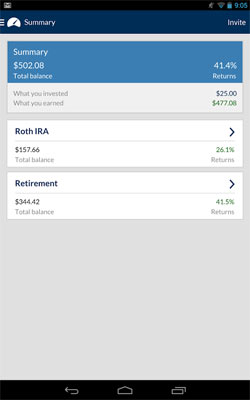 Betterment Android App