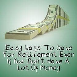 easy ways to save without a lot of money