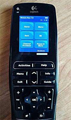 watch fire tv using logitech IR remote