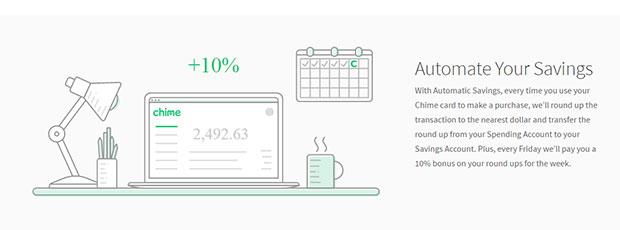 chime bank automatic savings