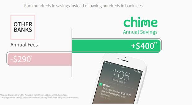 chime bank fee free
