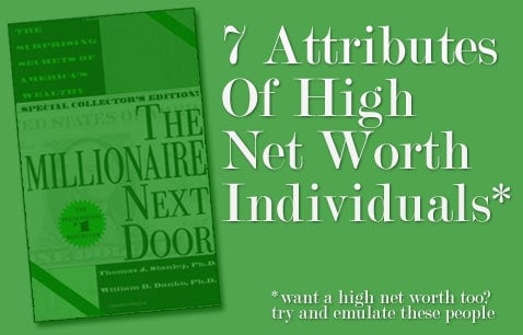 how to have a high net worth