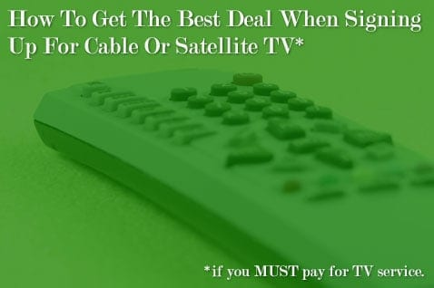 How to get the best deal when signing up for cable or satellite tv how to get cable cheaper reheart Image collections