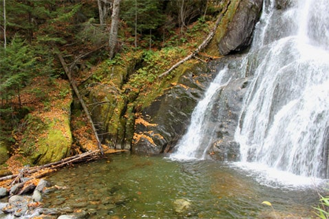 Waterfall In Vermont's Green Mountains