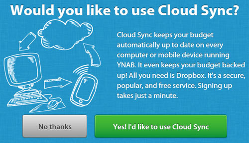 YNAB Cloud Sync