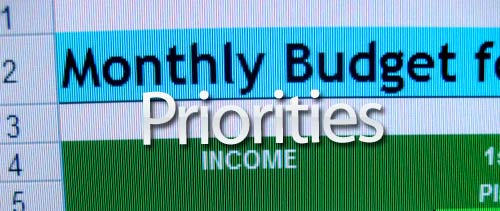 monthly budget priorities