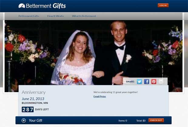 Betterment Gifts Registry