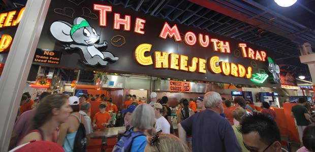 saving at the minnesota state fair Mouth Trap cheese curds