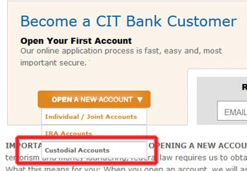 open custodial account