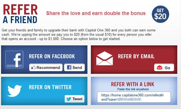 Capital One 360 Refer A Friend
