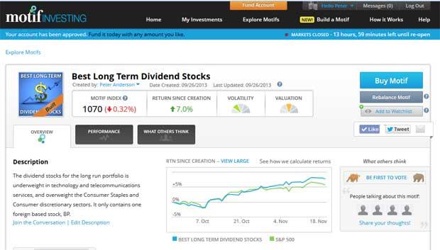 motif investing - best long term dividend stocks