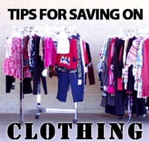tips for saving on clothing