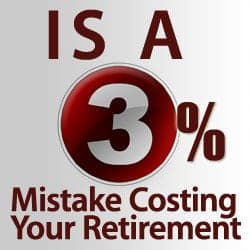 3 percent retirement mistake