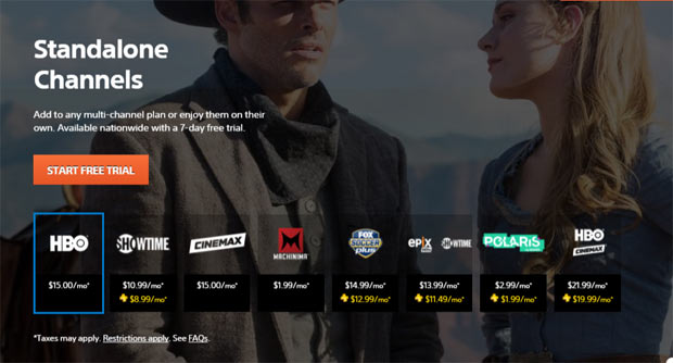 Playstation Vue Review - Available Standalone Channels