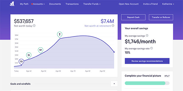 Wealthfront Dashboard
