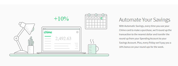 chime bank automatic savings