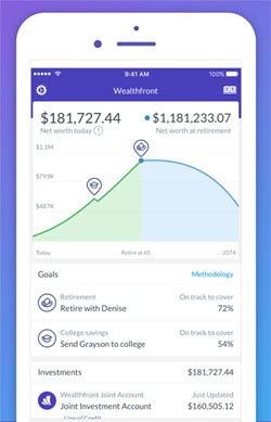 wealthfront home screen
