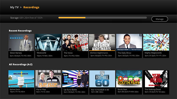 Sling TV My Recordings Cloud DVR