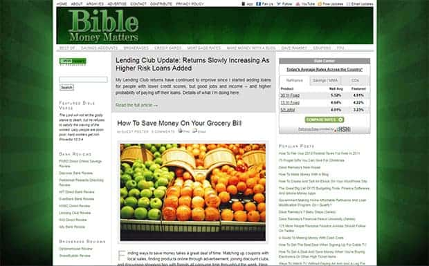 Bible Money Matters 2011 Homepage
