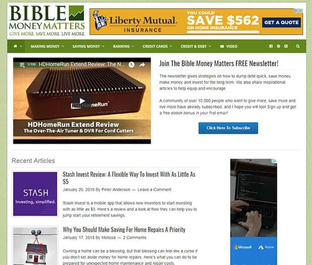 Bible Money Matters 2018 Homepage