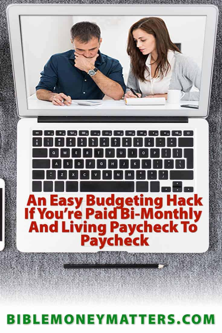 If you're paid bi-monthly and living paycheck to paycheck, which strategies do you use to make budgeting easier? Here's one hack we recently discovered.