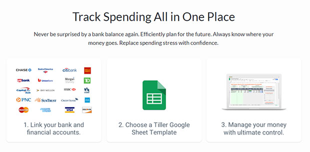 Tiller Money Automated Budget Spreadsheet Review - Signing Up
