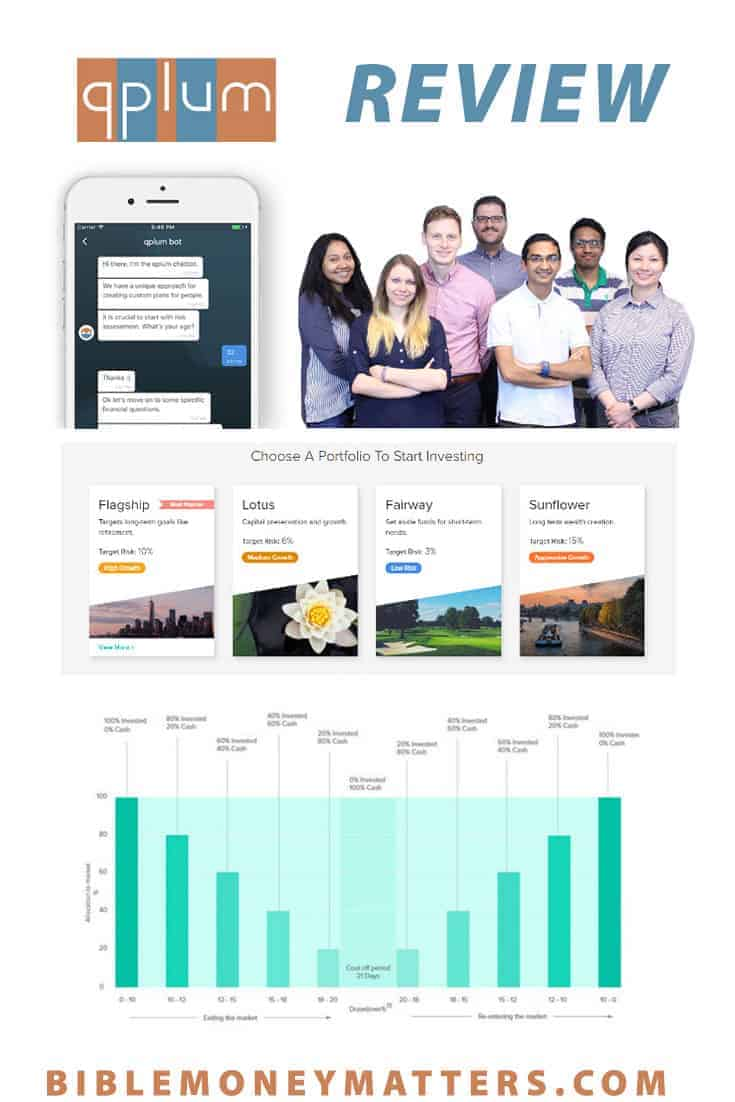 Qplum, launched in 2016, is an independent investment advisor. Qplum makes investing easy with their P.I.E approach to investing - Plan, Invest, and Engage.