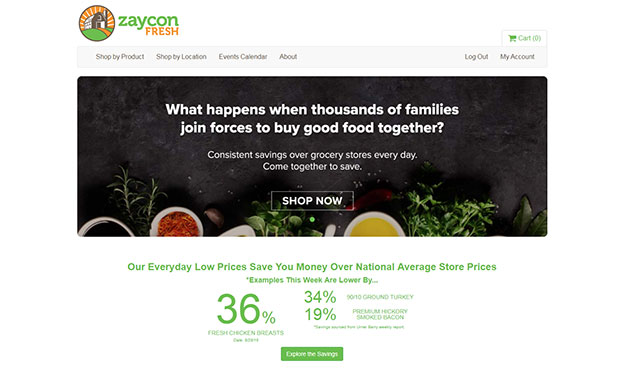 Zaycon Fresh Meats Review - Website