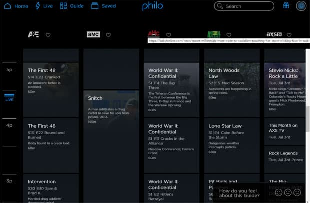 Philo TV Review - TV Guide Grid
