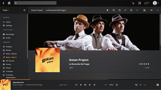Plex Media Server Music Detail Page