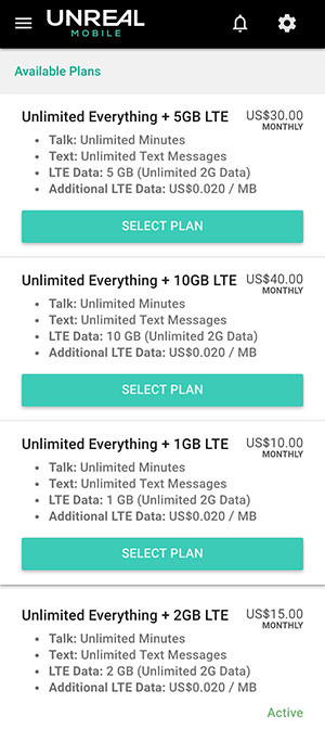 Unreal Mobile Plans