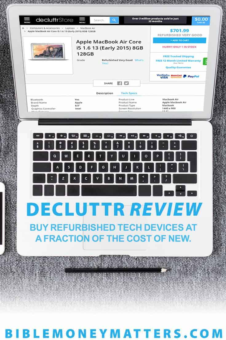 Decluttr is a website and app where you can buy refurbished technology for a fraction of the cost of buying new. Here's a review of the Decluttr Store.
