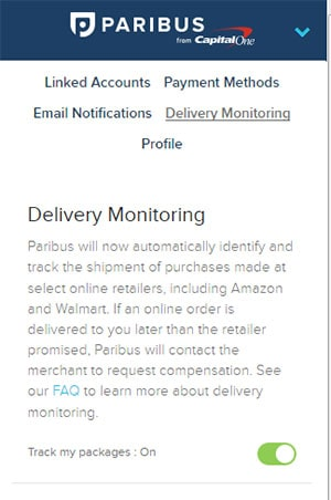Paribus Delivery Monitoring