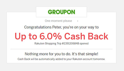 Rakuten Cash Back Notification