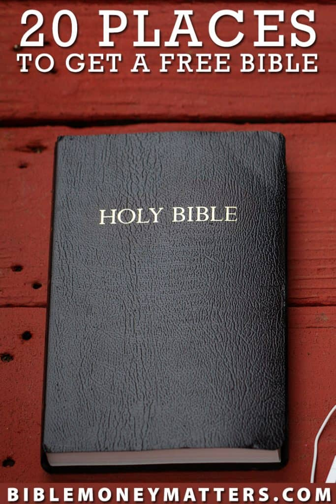 20 Places To Get A Free Bible In 2019