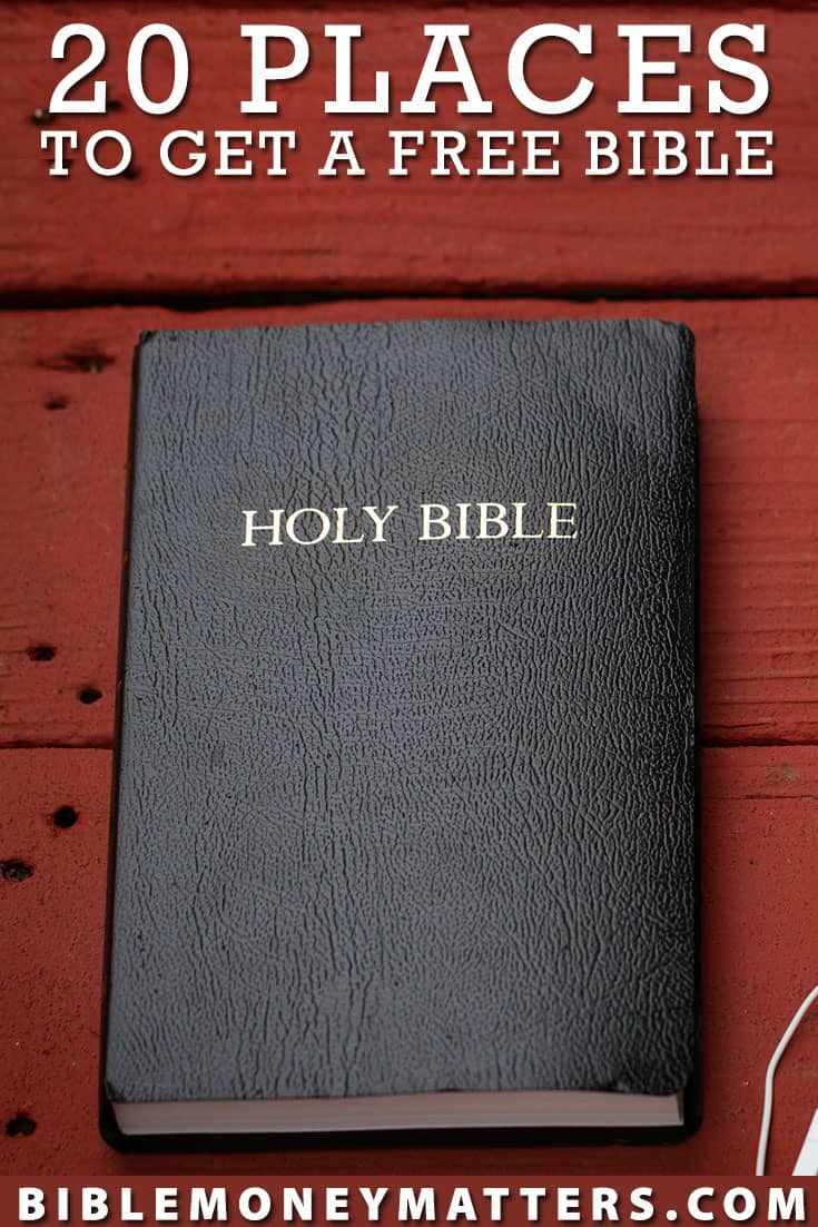 There are a lot of places that you can get a free Bible, in different versions and languages.  Here are 20 places you can get the scriptures without cost
