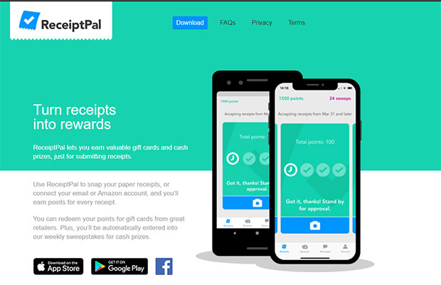 Free gift cards from ReceiptPal