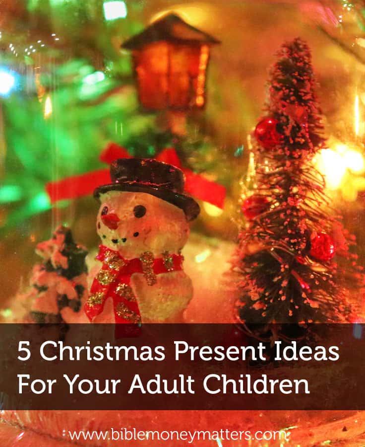 Your grown children may be able to buy what they need, but you can give a gift that comes from the heart. Here are a few ideas.