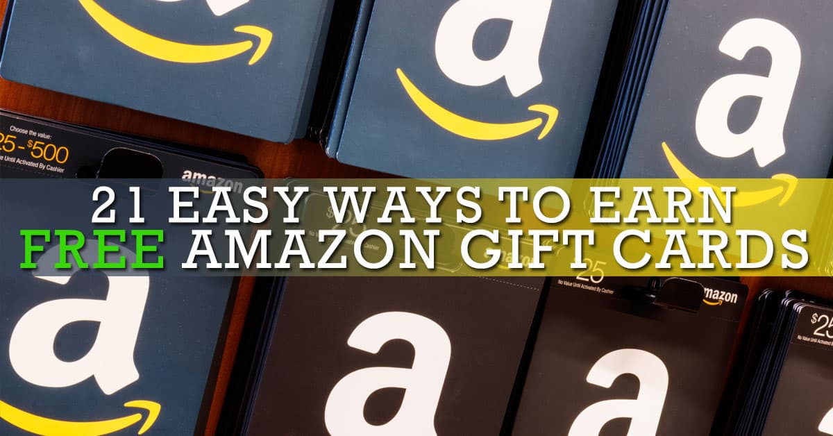 earn amazon gift cards quickly