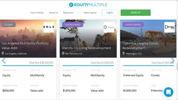 EquityMultiple Review - investments