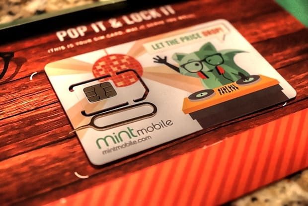 Mint Mobile Review - Mint SIM card ejector tool