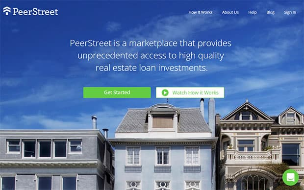 PeerStreet Review - website homepage