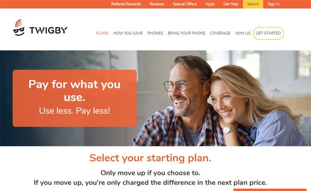 Twigby Review - Website Homepage